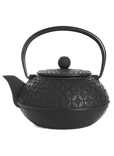 Taşev Linden - Yonca 800 ml Siyah Döküm Çaydanlık-Bambum